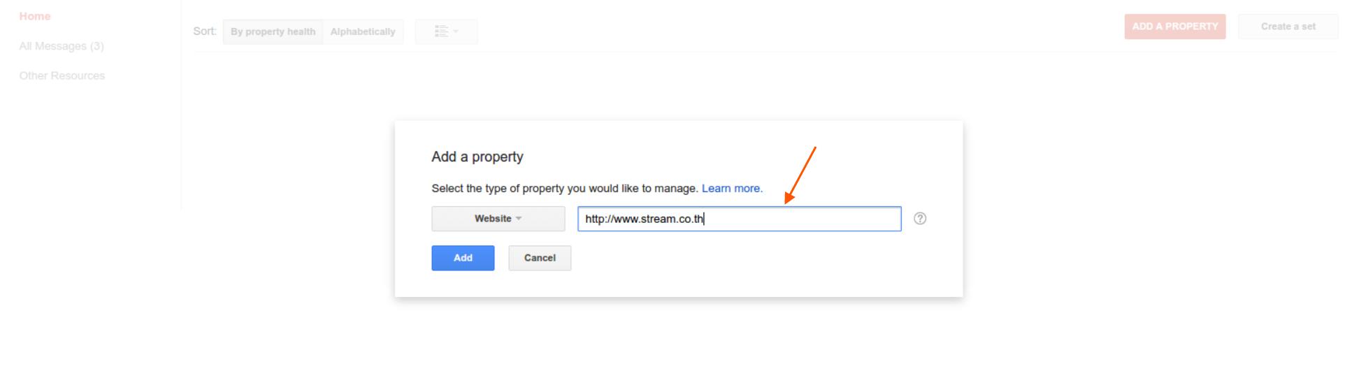 Add property URL